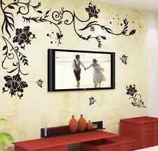 Wandtattoo Wandsticker Blumen Schlafzimmer&Wohnzimmer Aufkleber Haus Dekoration