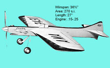 "Model Airplane Plans (UC): Jetco SHARK 15 36½"" Stunt for .15-.25 (Lew McFarland)"