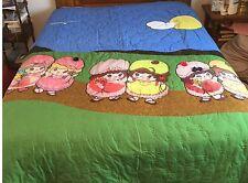 "Queen Size Handmade Novelty Quilt ""SUNDAY MORNING STROLL"""