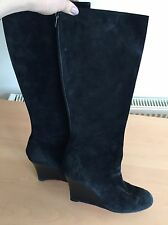 Christian Louboutin Black Suede Boots, Size 40,5 Uk 7