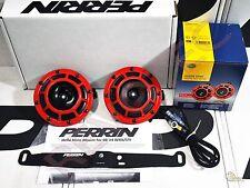 Perrin Mounting Bracket & Hella Horn w/ Wiring Harness For 08-14 Subaru WRX/ STi