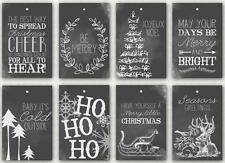 8 CHRISTMAS - BLACK WHITE LINE ART 155 lb SCRAPBOOK PAPER CRAFT CARD TAGS