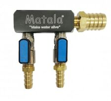 Matala 2-Way Heavy Duty Air Manifold Valve -brass-use w/Hakko aerators -splitter