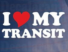 I LOVE/HEART MY TRANSIT Novelty Van/Window/Bumper Vinyl Sticker/Decal