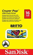 SanDisk Cruzer Pop USB Flash Drive 16GB - BRITTO Special Edition