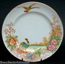 1930's Sutherland China Exotic Birds Pattern Side Bread Size Plate 17.5cm in VGC