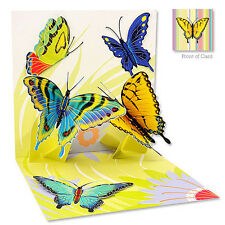 3D Greeting Card by Up With Paper - Spring Butterflies #591