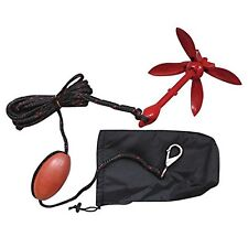 Painted Red Folding Grapnel Anchor Kit 1.5kg for PWC/Kayaks/Jet Skis/Dinghys/RIB