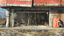 hot game FALLOUT 4 poster printing 36x64cm throwback  man and faithful dog2 #3