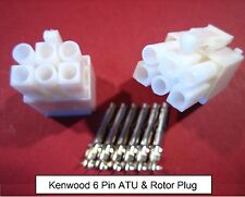 Kenwood 6 pin AT Plug ATU Automatic Antenna Tuner + Yaesu Rotator Rotor Socket