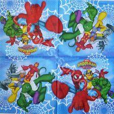 8 Servietten Napkins Spider Man & Friends - Marvel - Spinnenmann - Comic - co034