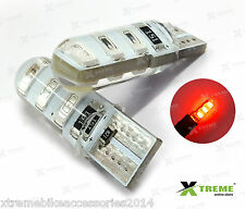 2pcs 6smd 5w Jelly T10 Red Parking LED for Yamaha FZ