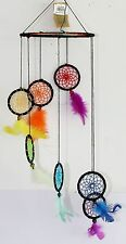 DREAM CATCHER Wind Chime Mobile RAINBOW COLORS Native Indian Inspired Design NEW