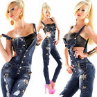Sexy Women Dungarees Blue Denim Skinny Jeans Jumpsuit Ladies Overall 6 8 10 12 S