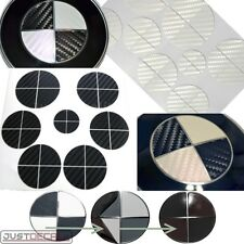 BLACK & WHITE CARBON FIBER Vinyl Sticker Overlay COMPLETE SET FITS BMW Emblems