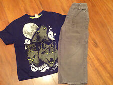 Boys Size 4t Outfit Lot~The Children's Place~Boys 4t Corduroy Pants & Wolf Shirt