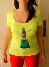 t shirt jaune KANABEACH vintage T 38 NEUF ETIQUETTE coll été 2013 val 29€