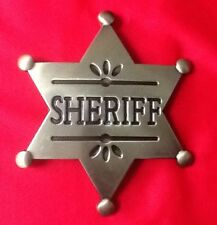 GOLD DEPUTY SHERIFF STAR COWBOY WILDWEST WESTERN FANCY DRESS BELT BUCKLE