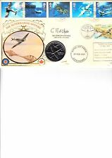 BENHAM 1997 ARCHITECTS OF THE AIR COIN FDC SIGNED BY DR GORDON MITCHELL