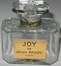 "Vintage Jean Patou Joy Perfume Bottle 1 OZ Baccarat Open - Empty - 2 1/4"" - #2"