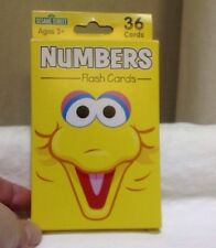 Sesame Street Big Bird Number Flash Cards 36 Cards New