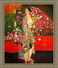 The Dancer by Gustav Klimt 85cm x 72.5cm Framed Ornate Silver