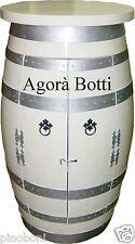 Botti/botte Cantinetta con mensola bianca e con cerchi argentati