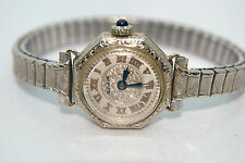 Vintage 18K White Gold Bulova Women Watch Not Working