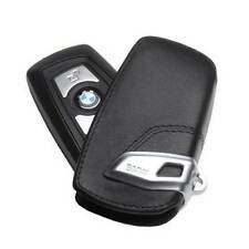 BMW Basic Line Black Genuine Key Case FOB Holder 2012 & Up Fobs OEM 82292219911