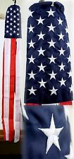 "60"" Embroidered U.S. USA American Flag 100% Polyester Wind Sock W/Grommets"