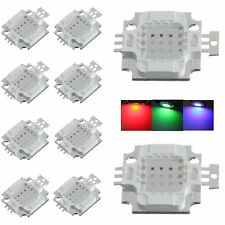 10pcs 10W watt high power RGB change colors led SMD chip bead bulb light for DIY