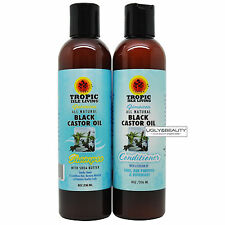 Tropic Isle Living Jamaican All Natural Black Castor Oil Shampoo and Conditioner