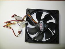 New CoolerMaster Silent 120mm Desktop Computer Cooling Fan 3 pin &4 pin Molex