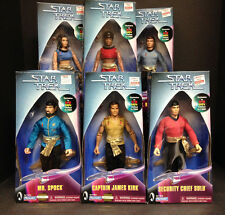 "1998 PLAYMATES KB EXCLUSIVE STAR TREK MIRROR MIRROR 9"" 6 FIGURE SET MR SPOCK D39"