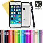 Bumper Rim Case Silicone Cover For Apple iPhone 5 5S + Screen Protector & Cloth