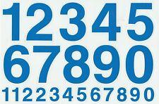 PLANCHE A4 TUNING QUAD 22 AUTOCOLLANT CHIFFRE BLEU CLAIR 7 X 4,5 CMS