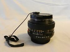 Vintage Minolta 50mm Wide Angle MD 1:1.7 Lens, and Filter (H1)