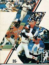 1976 BALTIMORE ORIOLES VS DETROIT TIGERS PROGRAM-NICE PLAYER COVER.