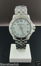 Brand New Raymond Weil Gent's Tango Steel White Quartz Date Watch 5599-ST-00308