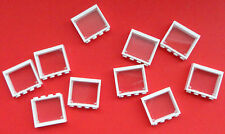 LEGO LOT OF 10 NEW WHITE 1 X 4 X 3 WINDOWS & GLASS PANE INSERT OPENING PIECES