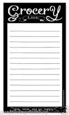 Chalkboard Country Style Magnetic Grocery List Notepad Guajolote Prints™