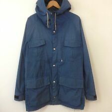 VTG 70s 80s REI Coop 60/40 Shell Parka Jacket Mens SZ XL Blue Hiking Hooded Coat