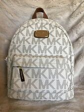 NWT MICHAEL KORS JET SET MK SIGNATURE PVC XS BACKPACK  BAG IN VANILLA