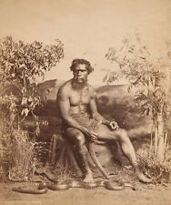 Portrait of an Aboriginal man Jagen Boomerang Australien Ureinwohner Photo M 101