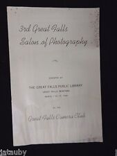 1949 Brochure Program THE GREAT FALLS SALON OF PHOTOGRAPHY PUBLIC LIBRARY NUDE