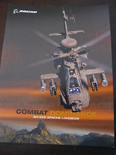 Boeing AH-64D Apache Longbow Combat Dominance Data Sheet / 4 Pages / NEW