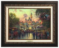 Thomas Kinkade Disneyland 50th Anniversary Canvas Classic (Bronze Frame)