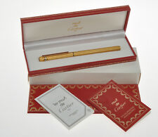 Cartier Must 3 Anneaux vintage gold fountain pen new old stock pristine in box