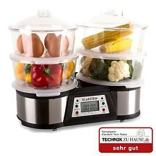 ELECTRIC 4 TIER 8 L FOOD STEAMER MEAT EGG VEGETABLE COOKER 1500W *FREE P&P UK *