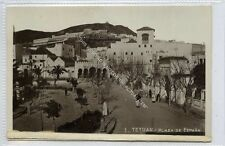 (Ga2836-100) Real Photo of TETOUAN, Plaza de Espana, Morocco c1930 EX